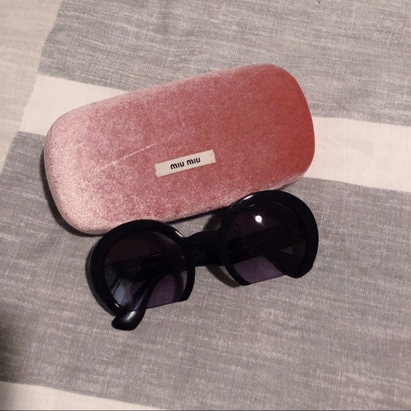 9a7457cb6aaf Miu Miu Accessories | Semi Round Razor Cutoff Sunglasses | Poshmark